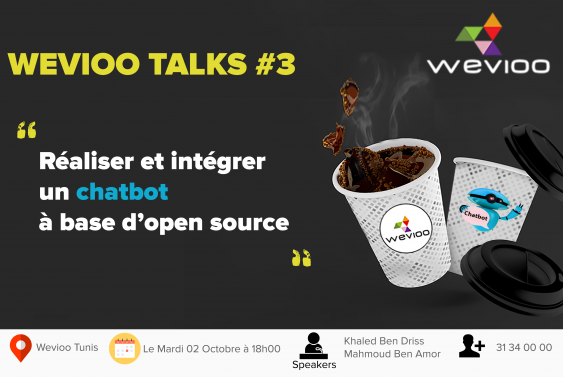 Wevioo talks Chatbot  RASA OPEN SOURCE LIVE CODING CONSULTING DIGITAL IOT